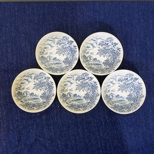 Enoch wedgwood countryside berry bowls blue 5 bowl
